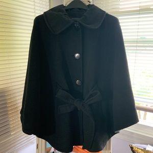 Heather/ Dark Gray Cape Coat/ Jacket